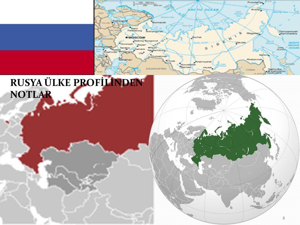 Rusya'nın Etnik Yapısı Toplam Nüfus: 140,041,247 (2009) Dünyada 9.