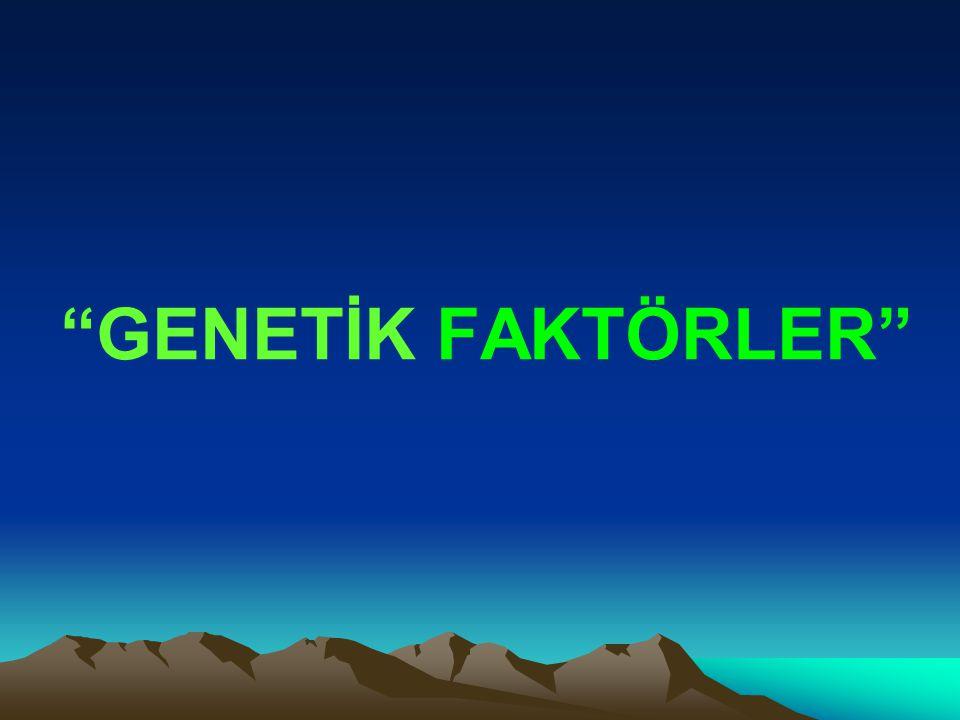 """""""GENETİK FAKTÖRLER"""""""