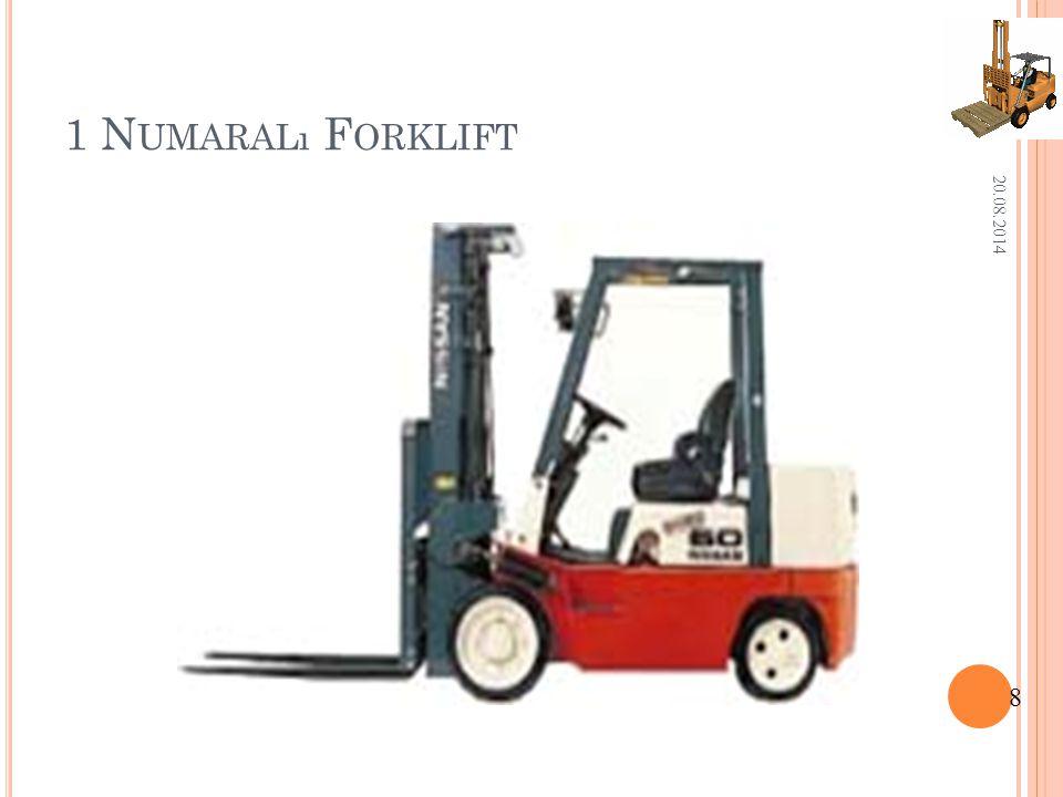 1.F ORKLIFT T ANıTıM B ILGILERI Üretim yılı1985Boş Ağırlık 3.500 kg.