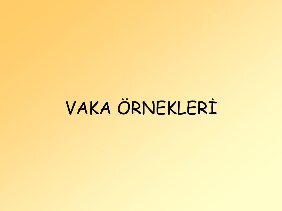 VAKA ÖRNEKLERİ