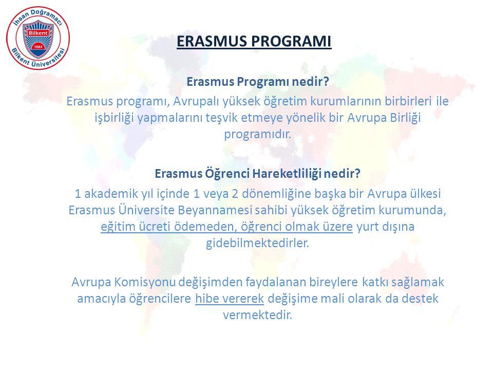 ERASMUS PROGRAMI Erasmus Programı nedir.