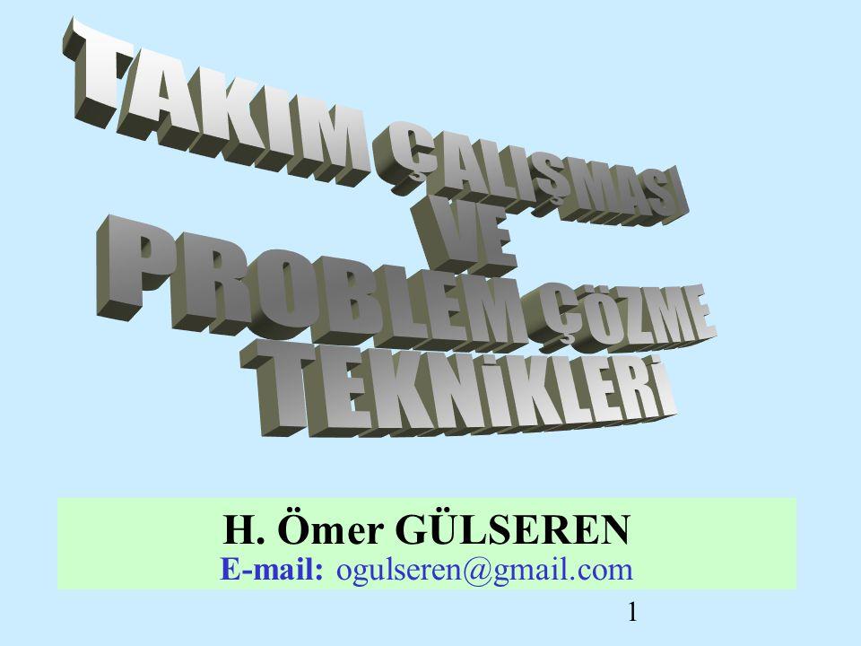 1 H. Ömer GÜLSEREN E-mail: ogulseren@gmail.com