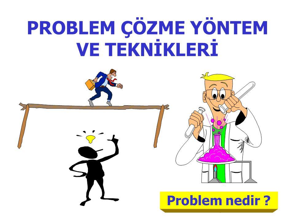 19 Problem nedir PROBLEM ÇÖZME YÖNTEM VE TEKNİKLERİ