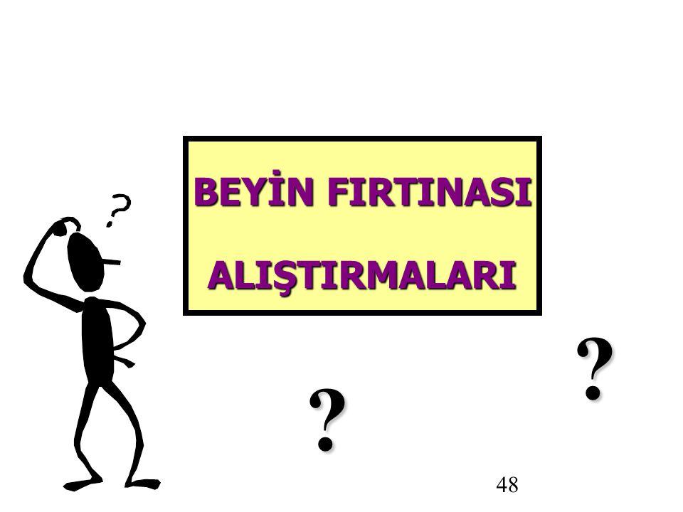 48 BEYİN FIRTINASI ALIŞTIRMALARI
