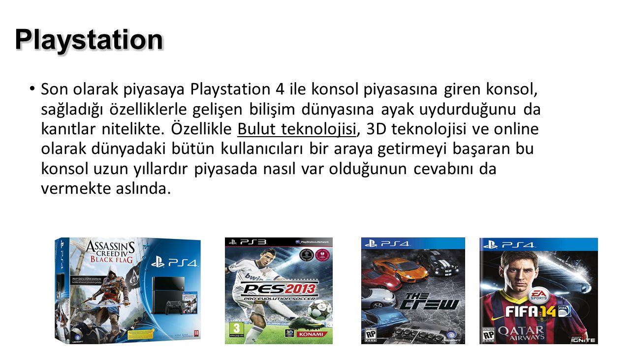 Son olarak piyasaya Playstation 4 ile konsol piyasasına giren konsol, sağladığı özelliklerle gelişen bilişim dünyasına ayak uydurduğunu da kanıtlar ni