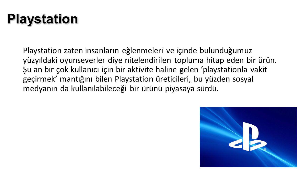 Playstation zaten insanların eğlenmeleri ve içinde bulunduğumuz yüzyıldaki oyunseverler diye nitelendirilen topluma hitap eden bir ürün. Şu an bir çok
