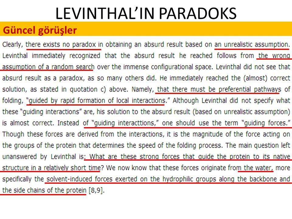 LEVINTHAL'IN PARADOKS Güncel görüşler