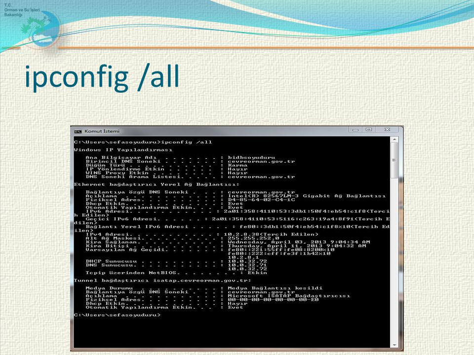 ipconfig /all