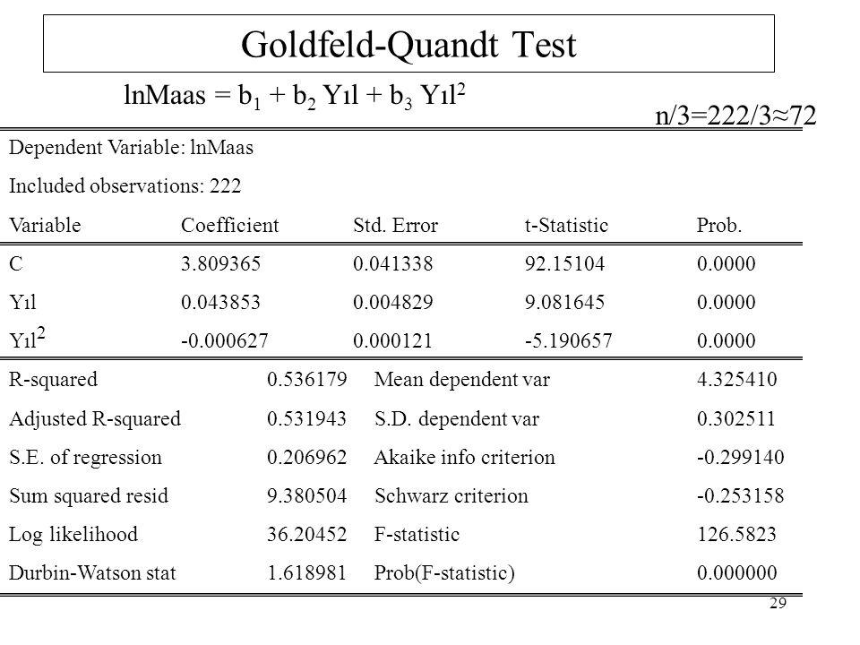 f 1 =f 2 =(n-c-2k)/2=9 sd de F tab =3.18 H 0 hipotezi reddedilebilir F hes > F tab