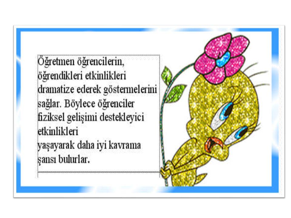 ÖNERİLEN KAYNAKLAR  ARAL Neriman, Gülen BARAN, Serap ÇİMEN, Şenay BULUT, Çocuk Gelişimi, Ya-pa Yayıncılık, İstanbul, 2001  ARAL Neriman, Gülen BARAN, Şenay BULUT, Serap ÇİMEN, Drama.