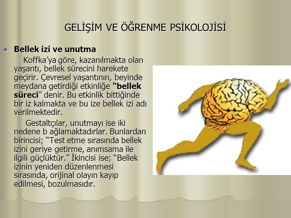 GELİŞİM VE ÖĞRENME PSİKOLOJİSİ İçgörüsel Öğrenme İçgörüsel Öğrenme Gestalt kuramın öğrenme anlayışımıza sağladığı en önemli katkı, içgörü çalışmasıdır.