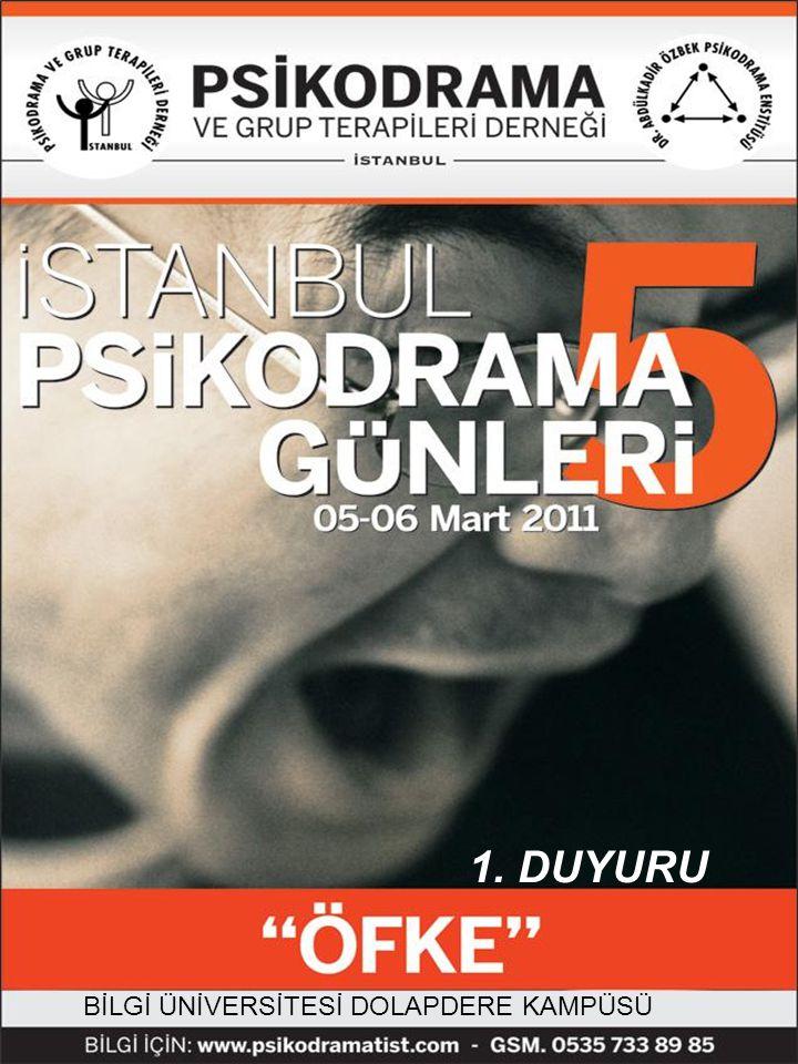 Değerli Arkadaşlar, İstanbul Psikodrama Günleri'nin bu yıl 5.cisini yapmaktayız ve seçtiğimiz tema öfke ..