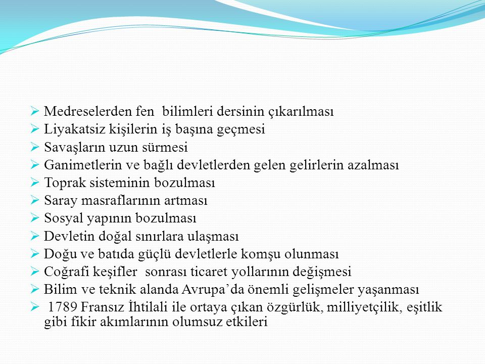 II.MAHMUT Alemdar Mustafa Paşa Ayanlar ile padişah arasında Sened-i İttifak imzalanmıştır.