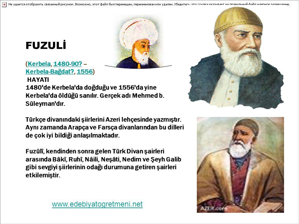 FUZULİ (Kerbela, 1480-90.