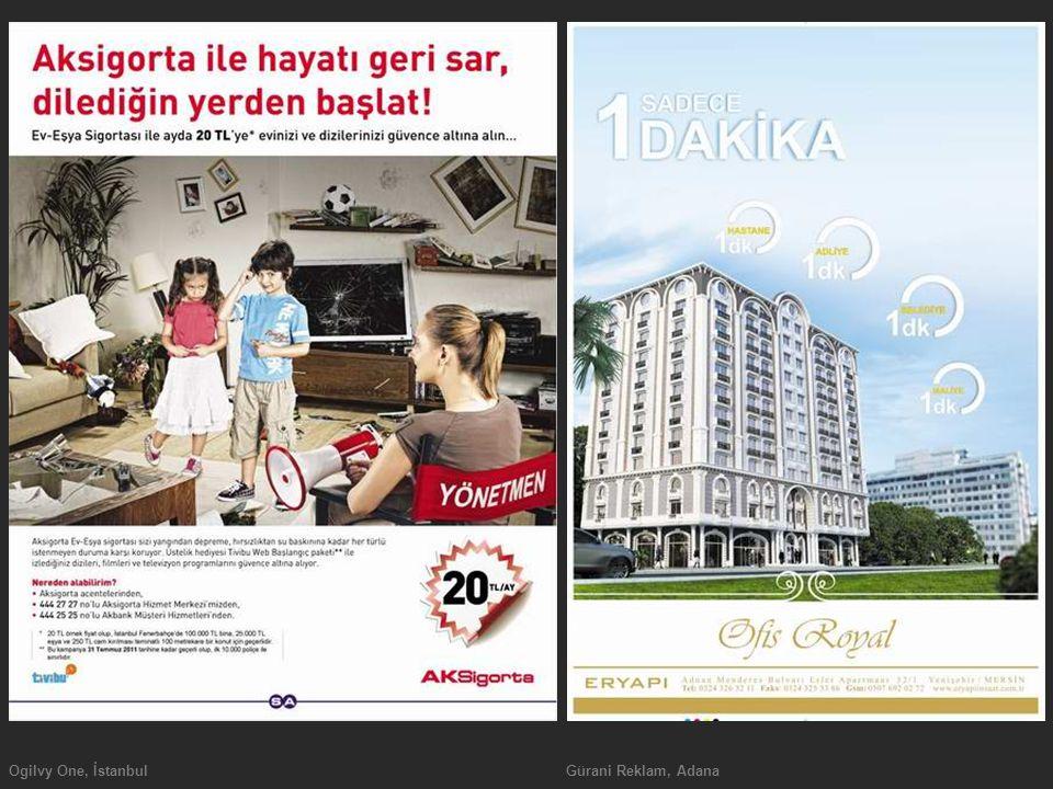 Ogilvy One, İstanbulGürani Reklam, Adana