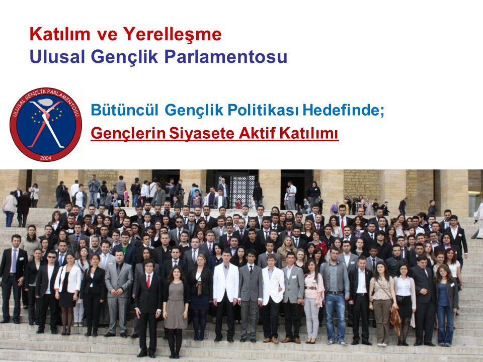 Katılım ve Yerelleşme Ulusal Gençlik Parlamentosu Bütüncül Gençlik Politikası Hedefinde; Gençlerin Siyasete Aktif Katılımı