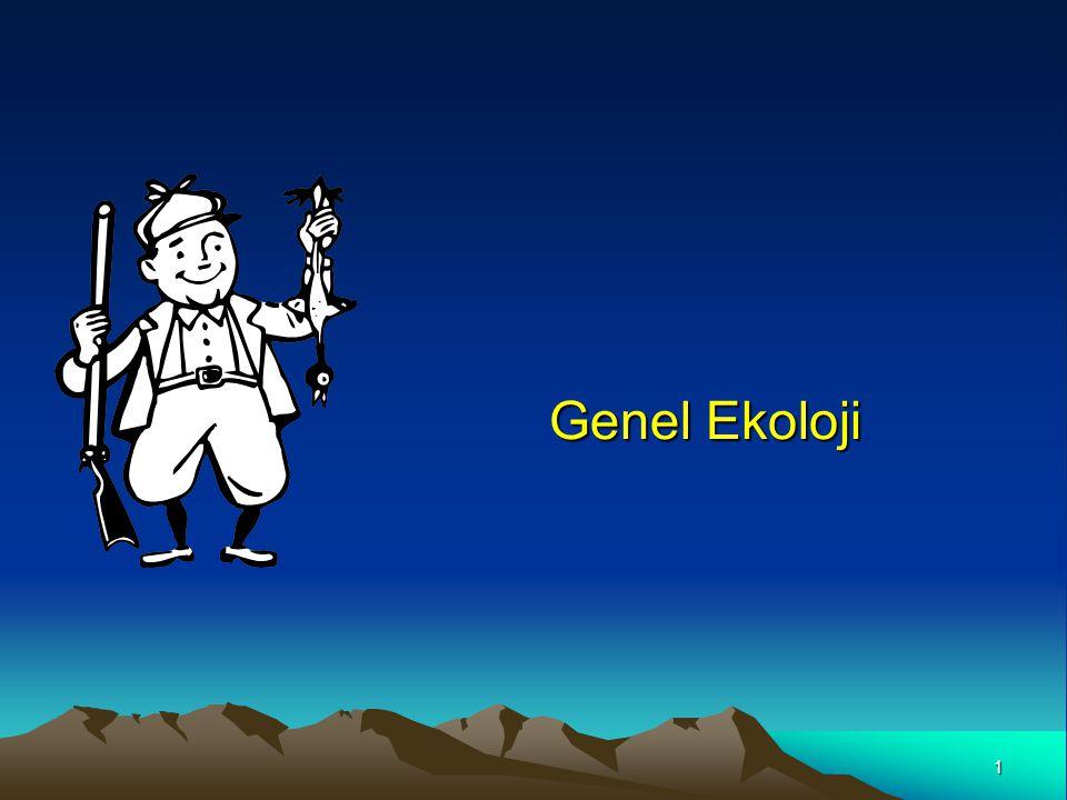 1 Genel Ekoloji Genel Ekoloji