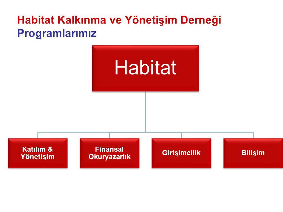 Habitat Kalkınma ve Yönetişim Derneği Programlarımız Habitat Katılım & Yönetişim Finansal Okuryazarlık GirişimcilikBilişim