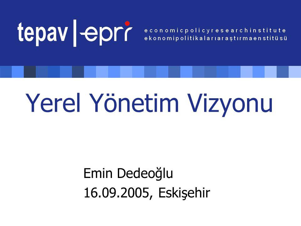 Yerel Yönetim Vizyonu Emin Dedeoğlu 16.09.2005, Eskişehir