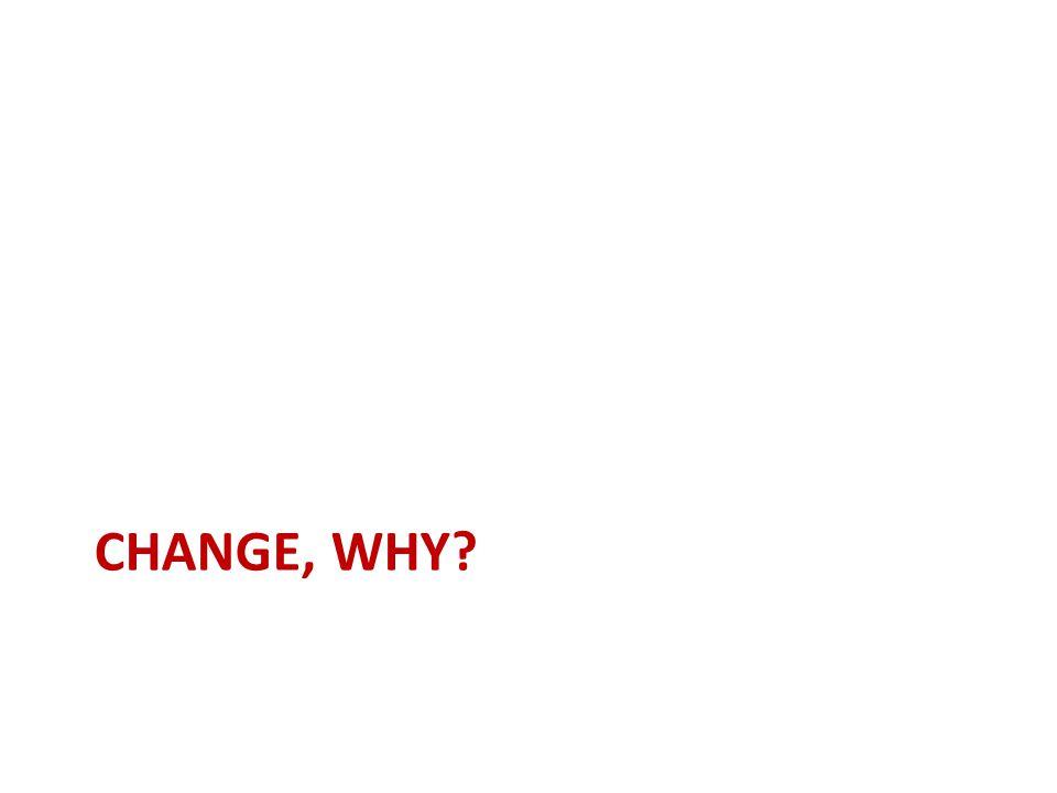 CHANGE, WHY?