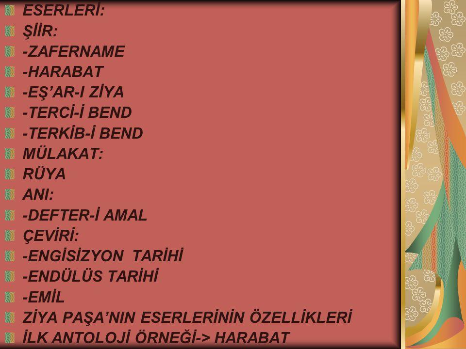 ŞİMDİ DE SIRA TANZİMAT DÖNEMİ'NİN İKİNCİ DÖNEMİNE; 2.