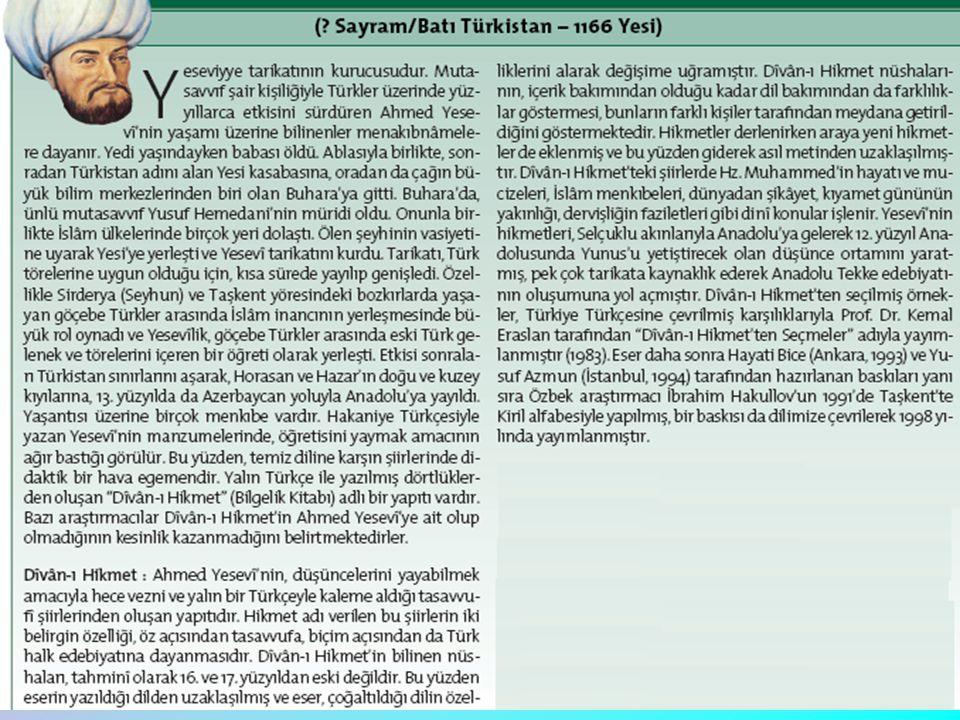 KARGI LİSESİ ÇORUM/ KARGI 3) Yüknekli Edip Ahmet hangi eseriyle tanınmıştır.
