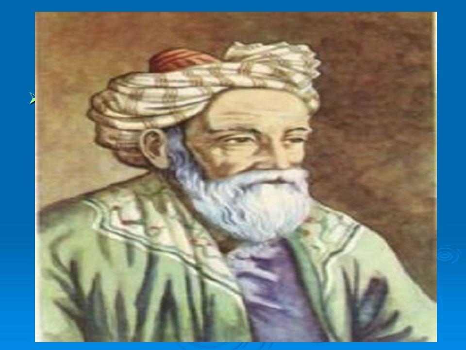 ÖMER HAYYAM  Asıl adı Giyaseddin Ebul Feth Bin İbrahim El Hayyam dır.18 Mayis 1048de İran'ın Nişabur kentinde doğan Ömer Hayyam bir çadırcının oğluydu.
