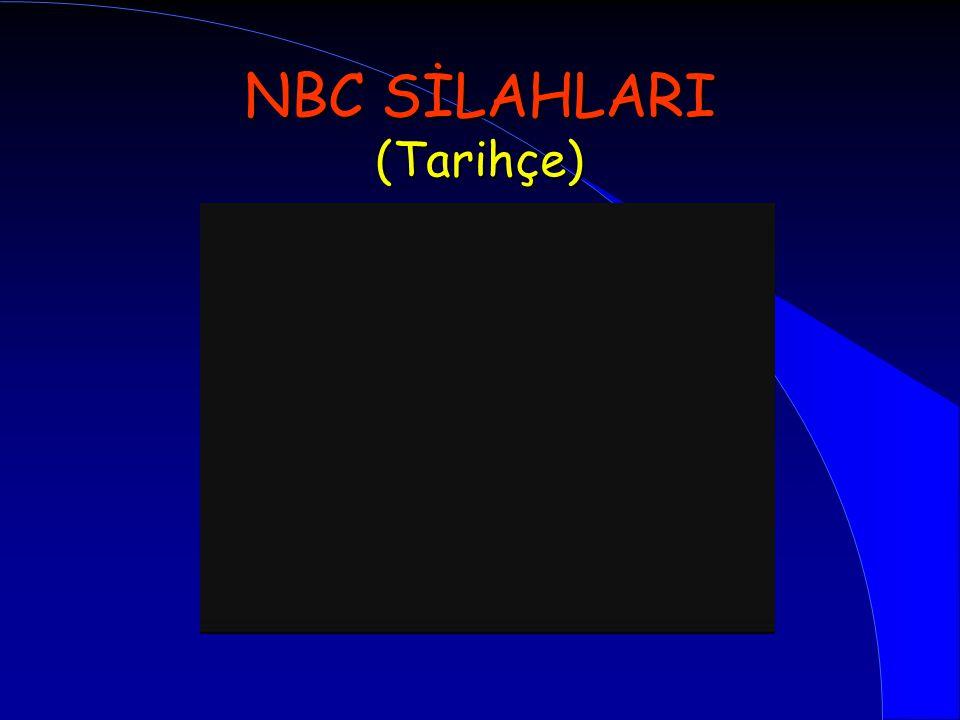 l NBC Silahları – Sınıflama, Özellikleri, Belirtiler, Şüphelendirici olaylar, Etkileri l Zehirli Endüstriyel Maddeler l Dünyada ve Ülkemizdeki Tehdidin Durumu l Öneriler