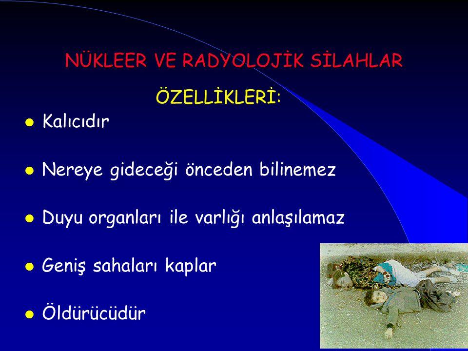 Radyasyon kazaları Endüstriyel radyasyon kaynakları ve kazalar Biyomedikal kaynaklar Nükleer reaktörler Nükleer silah kazaları Radyasyon yayan cihaz ve aletler Nükleer savaş