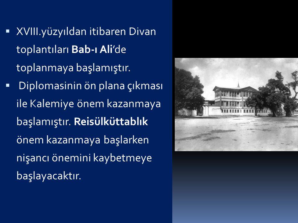  1-XVIII. Yüzyıldaki Değişmeler  a-Merkez Teşkilatı  XVII.yüzyılın başlarından itibaren Osmanlı veraset usulünde belirli bir kural getirilmiş olmas