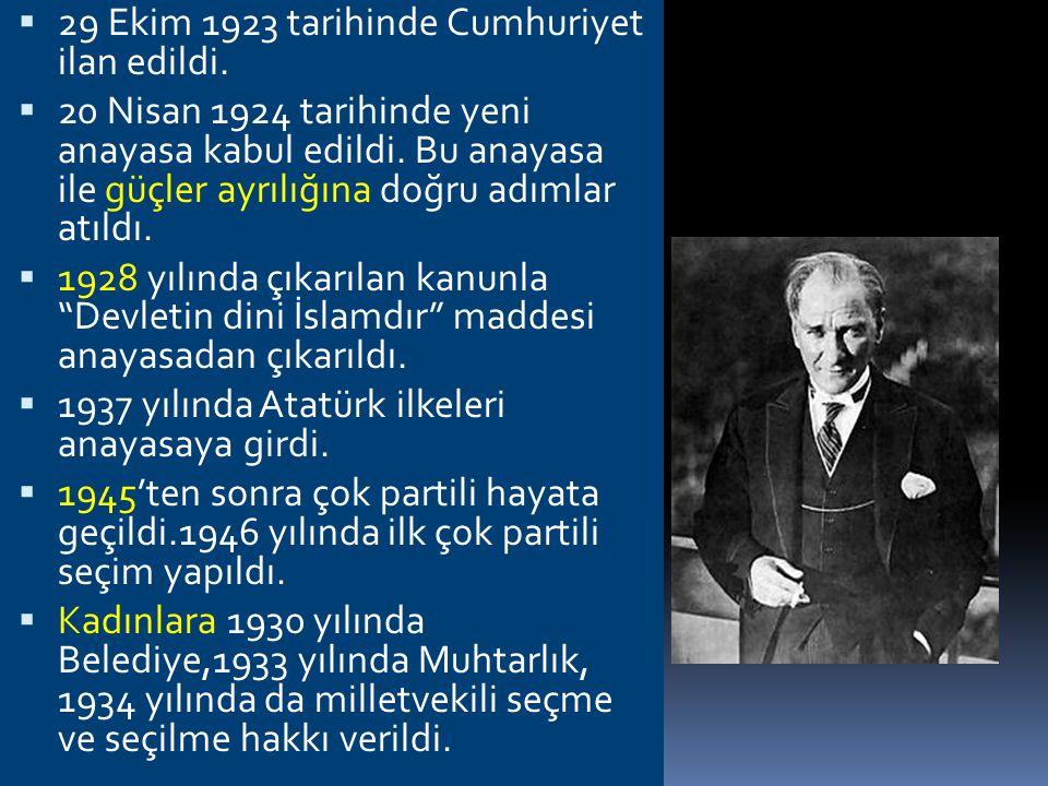CUMHURİYET DÖNEMİ DEVLET TEŞKİLATINDA GELİŞMELER  -Amasya Genelgesi,Erzurum ve Sivas Kongrelerinde milli iradeden bahsedilmekte ve milli egemenlik he
