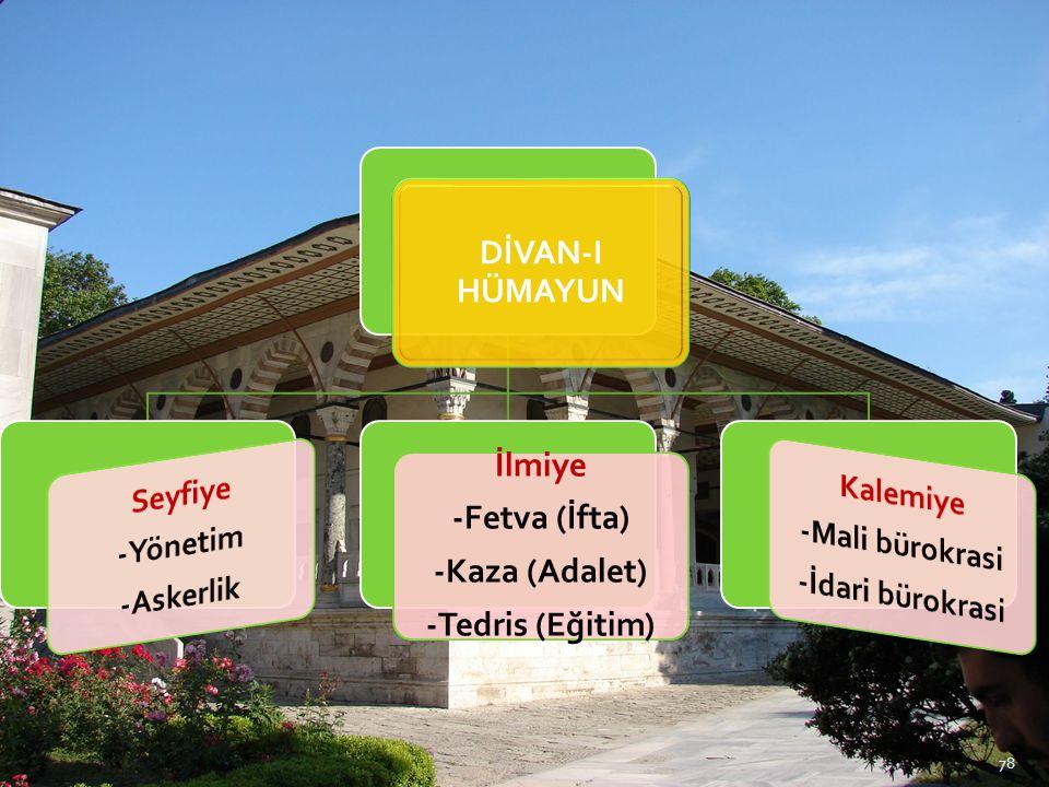  Divan'ın başlıca iki özelliği en üst yönetim örgütü ve en yüksek mahkeme olmasıdır.
