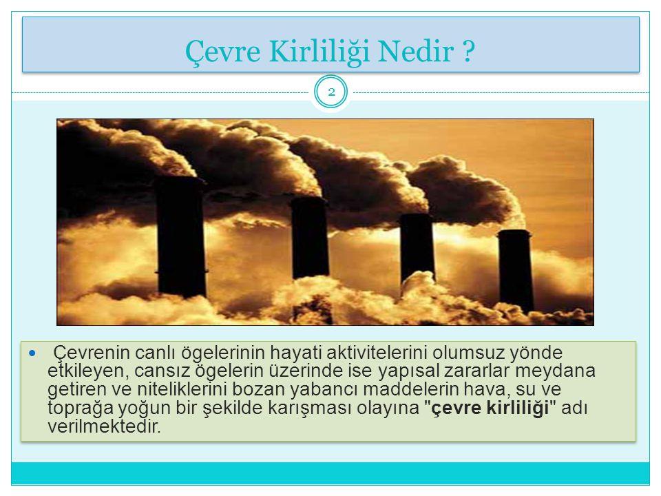 Çevre Kirliliği Nedir.