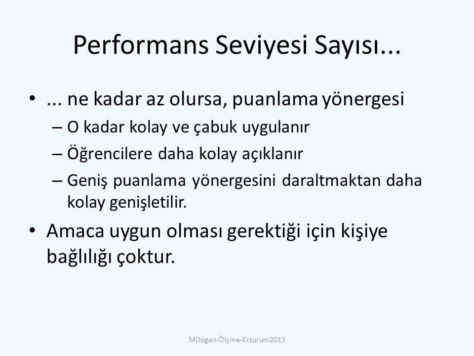 Performans Seviyesi Sayısı......