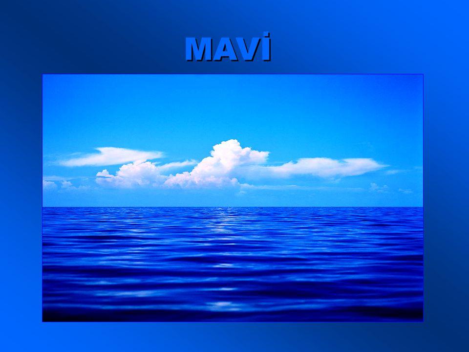 Ya ben .Ben hem gökyüzünün, hem denizin rengiyim.