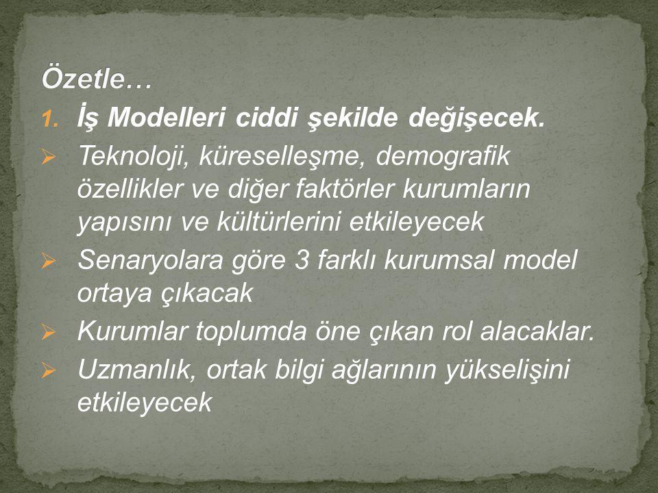 1.İş Modelleri ciddi şekilde değişecek.