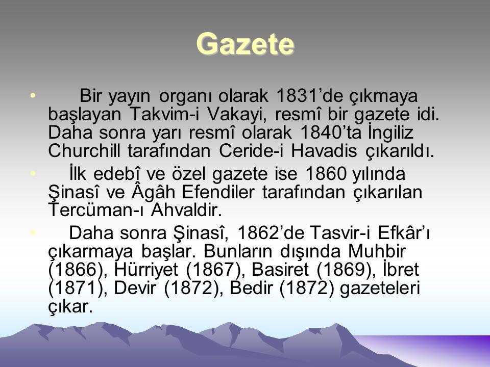 Hikâye ve Roman Türk edebiyatı romanla ilk defa 1859'da karşilaşir.