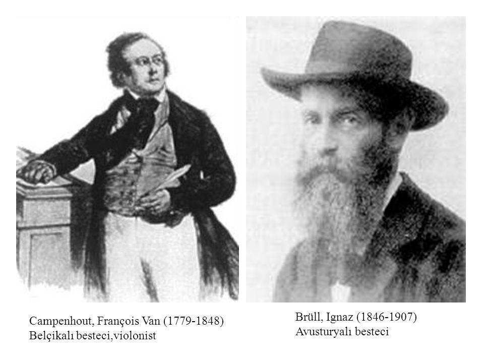 Brüll, Ignaz (1846-1907) Avusturyalı besteci Campenhout, François Van (1779-1848) Belçikalı besteci,violonist