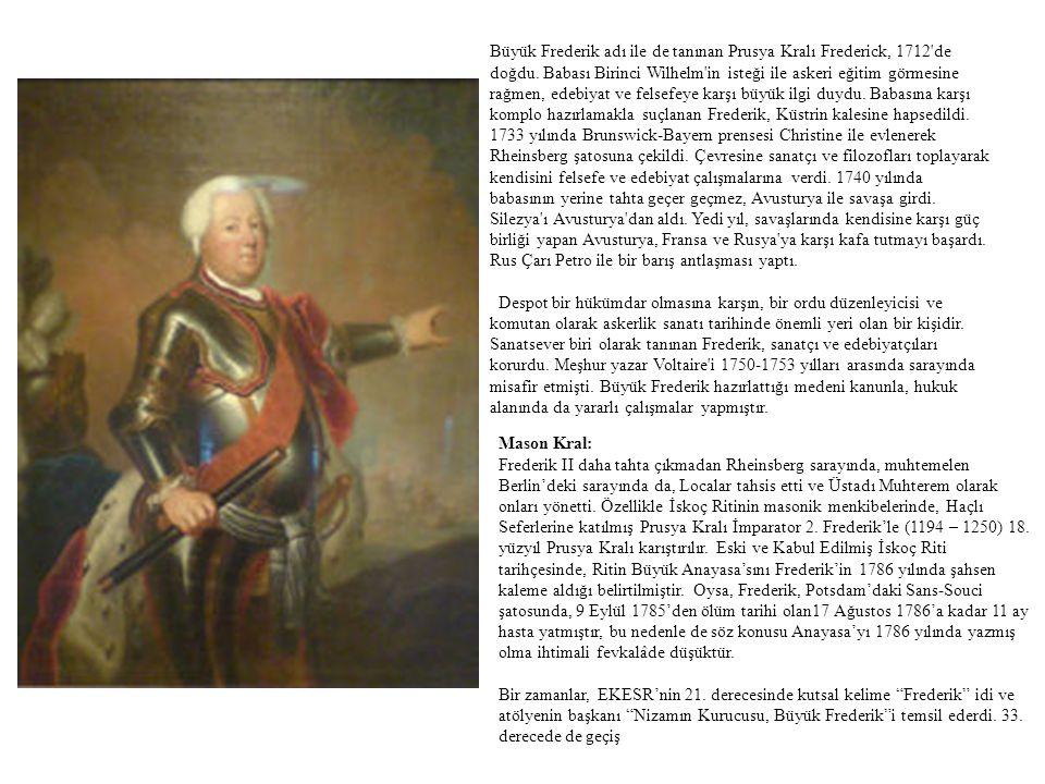 Büyük Frederik adı ile de tanınan Prusya Kralı Frederick, 1712'de doğdu. Babası Birinci Wilhelm'in isteği ile askeri eğitim görmesine rağmen, edebiyat