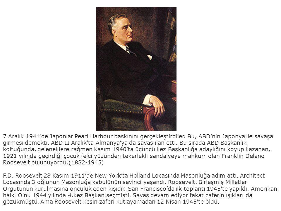 7 Aralık 1941'de Japonlar Pearl Harbour baskınını gerçekleştirdiler. Bu, ABD'nin Japonya ile savaşa girmesi demekti. ABD II Aralık'ta Almanya'ya da sa