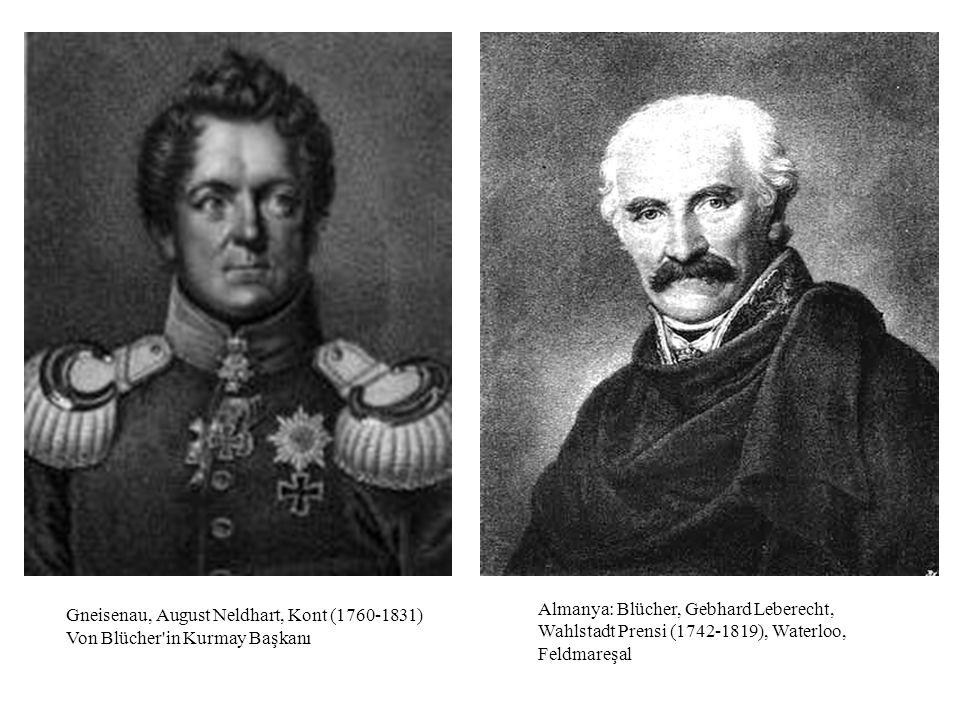 Almanya: Blücher, Gebhard Leberecht, Wahlstadt Prensi (1742-1819), Waterloo, Feldmareşal Gneisenau, August Neldhart, Kont (1760-1831) Von Blücher'in K
