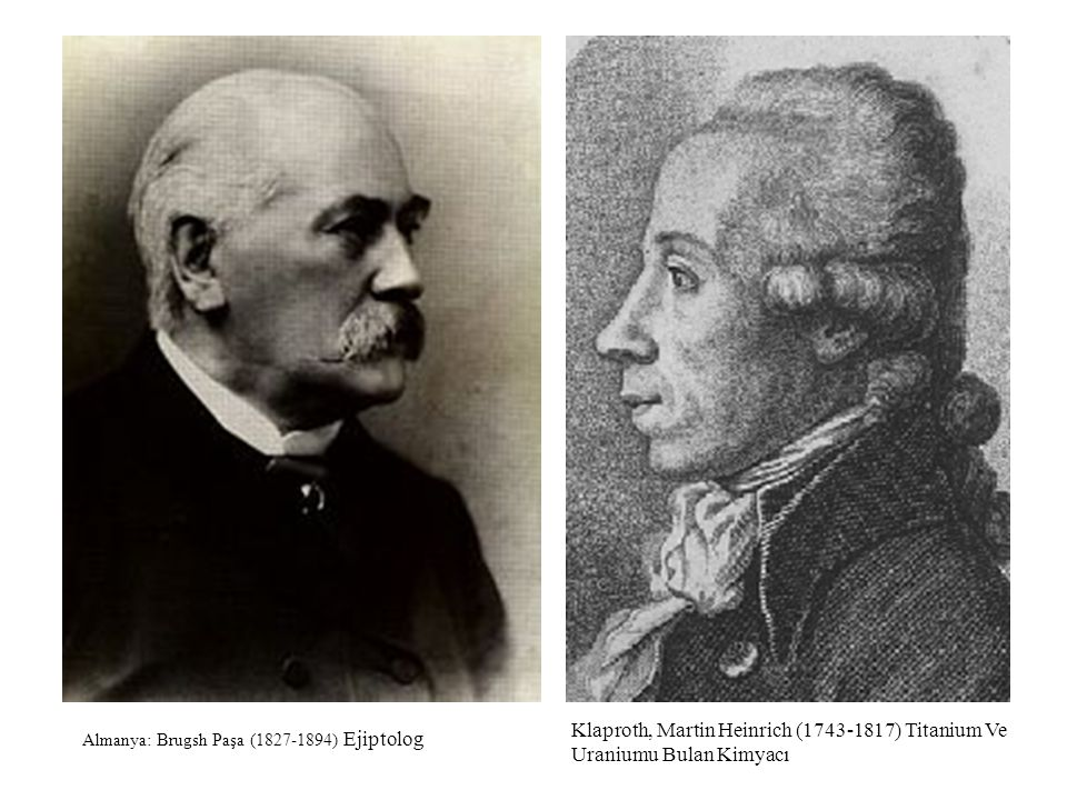 Almanya: Brugsh Paşa (1827-1894) Ejiptolog Klaproth, Martin Heinrich (1743-1817) Titanium Ve Uraniumu Bulan Kimyacı