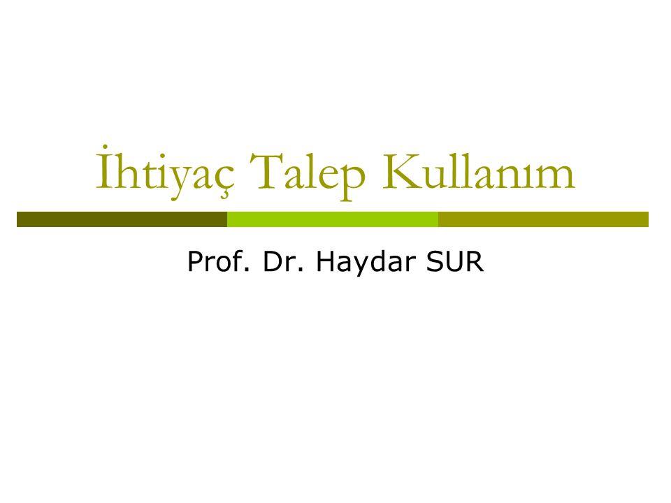 İhtiyaç Talep Kullanım Prof. Dr. Haydar SUR