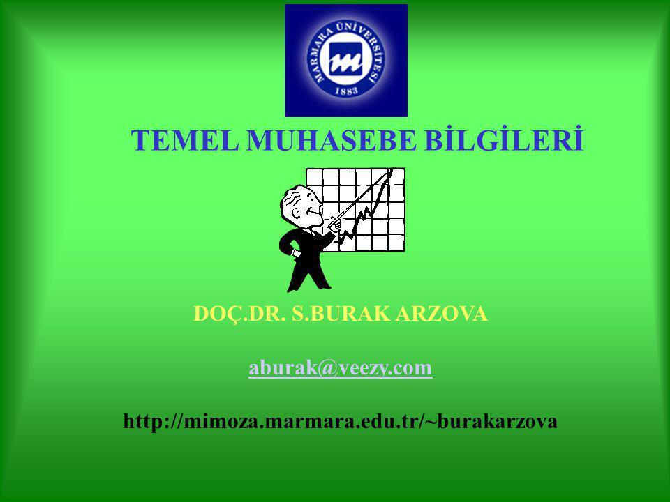 TEMEL MUHASEBE BİLGİLERİ DOÇ.DR.