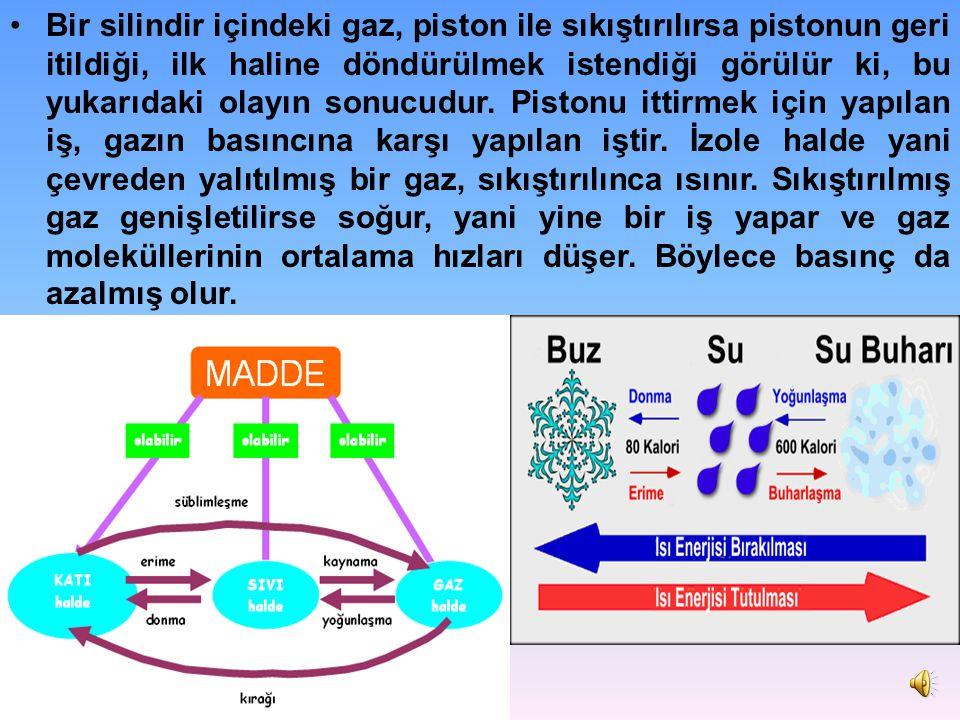 Bütün gazların genişleme ve sıkışma katsayıları aynıdır. Fakat sıvı ve katıların böyle bir özelliği yoktur. Bu yüzdendir ki, gazlar, katı ve sıvılarda