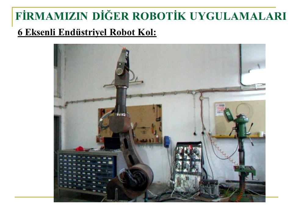 FİRMAMIZIN DİĞER ROBOTİK UYGULAMALARI 6 Eksenli Endüstriyel Robot Kol: