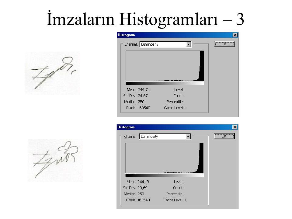 İmzaların Histogramları – 3