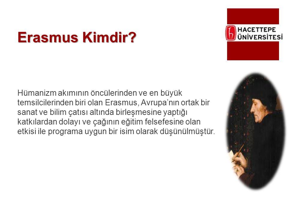 Erasmus Kimdir? Hümanizm akımının öncülerinden ve en büyük temsilcilerinden biri olan Erasmus, Avrupa'nın ortak bir sanat ve bilim çatısı altında birl
