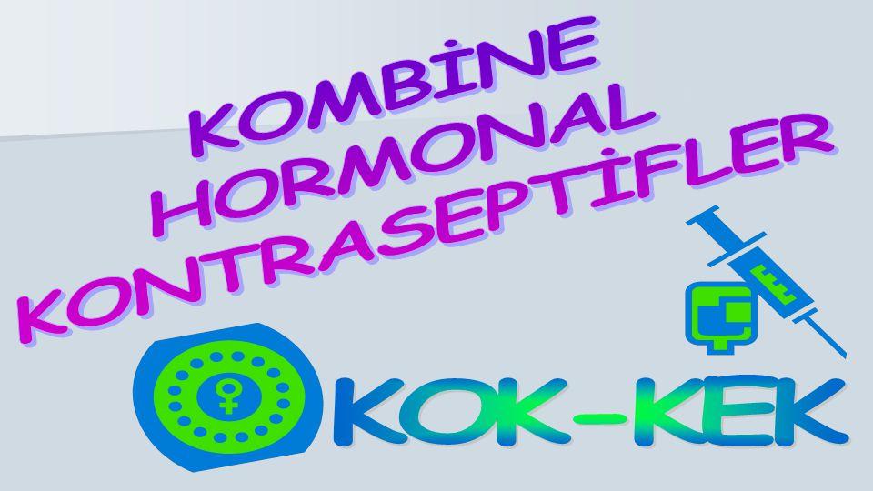 Oral KHK Yöntemler Sentetik östrojen ve progesteron içerir.