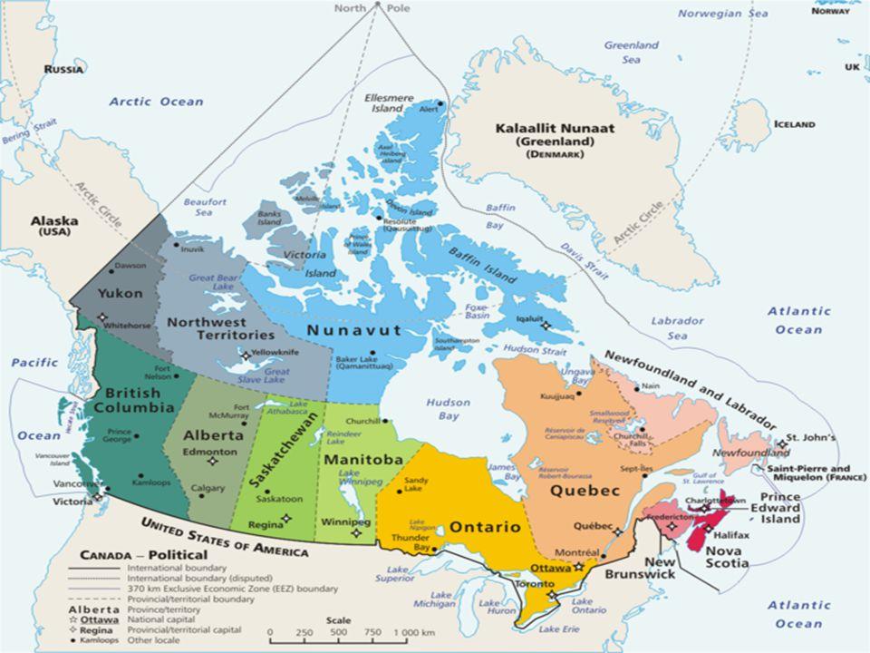Kanada, 9.976.140 kilometre kare ( Türkiye'nin yüzölçümü 783.562 kilometre kare) yüzölçümü ile dünyanın ikinci büyük ülkesidir.